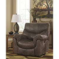 Ashley Furniture Signature Design - Alzena Recliner - Rocker - Pull Tab Manual Reclining Sofa - Gunsmoke
