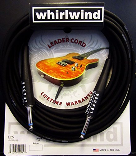 (Whirlwind L25 25 ft Electric Guitar Bass Cable, Keyboard Cord. Handmade USA)