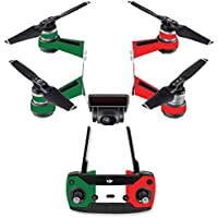 Skin for DJI Spark Mini Drone Combo - Italian Flag| MightySkins Protective, Durable, and Unique Vinyl Decal wrap cover | Easy To Apply, Remove, and Change Styles | Made in the USA