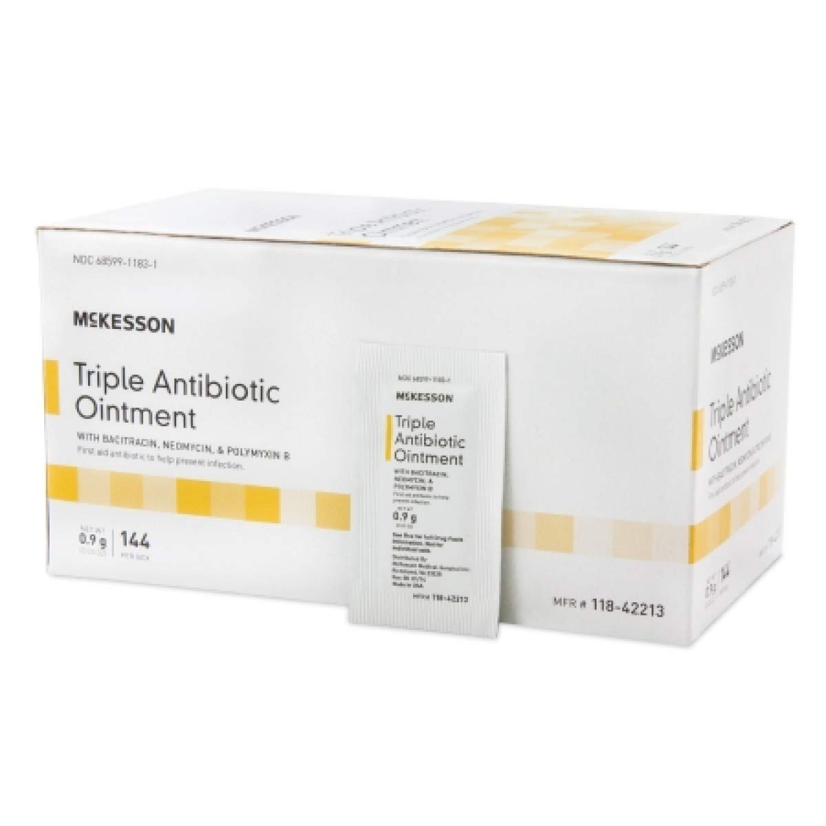 McKesson - First Aid Antibiotic - 0.9 Gram - Ointment - Individual Packet - 1728/Case-McK by McKesson (Image #1)