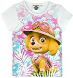 Paw Patrol Nickelodeon Girls Summer T-Shirts (White, 4 Years)