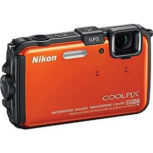 Nikon COOLPIX AW100 16MP Waterproof Shockproof Freezeproof Orange Digital Camera 26293B - (Certified Refurbished) by Nikon