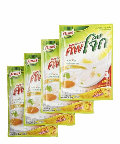 Knorr Energy Cup Jok  Instant Rice Porridge Chicken Flavor   1 23 Ounces  Pack Of 4