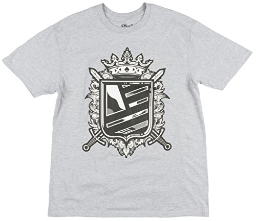 Popular Demand Swords With Shield Mens T-Shirt In Grey