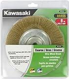 Kawasaki 841531 Coarse Wire Wheel Brush and  5/8-Inch Bore with 1/2-Inch Bushing, 8-Inch, Brass