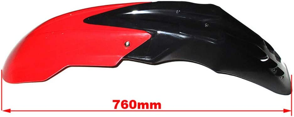 STONEDER Black Red Front Fender Mudguard Replacement for Kawasaki KX KLX 125 250 450 Yamaha WR250 WR450 YZ125 250