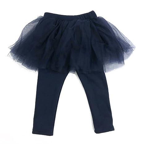 Falda de pantalón de bebé niña pequeña, hibote Falso pantalón de 2 ...