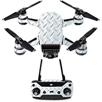 Skin for DJI Spark Mini Drone Combo - Diamond Plate| MightySkins Protective, Durable, and Unique Vinyl Decal wrap cover | Easy To Apply, Remove, and Change Styles | Made in the USA