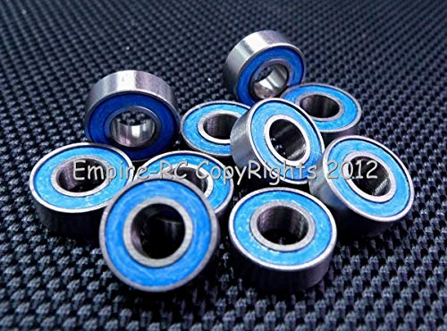FidgetFidget [50 PCS MR115RS (5x11x4mm) Rubber Sealed Ball Bearing Bearings (Blue) 5x11x4 (Blue Bearing Ball)