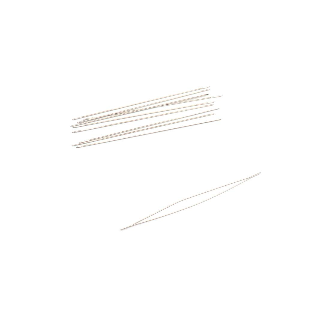 ZXHAO 5.5cm//2.2 inch Length Big Eye Beading Needles 10pcs with Needle Bottle