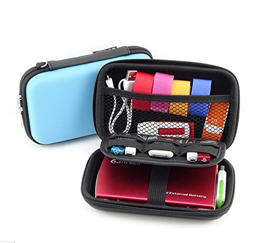 Blue EVA Semi Hard Protective Carrying case cover for Nikon Coolpix Series Digital Cameras Diabetic Organizer Power Bank GPS Storage Bags Kit Headphone Headset Dock Charger USB Cable Pouch