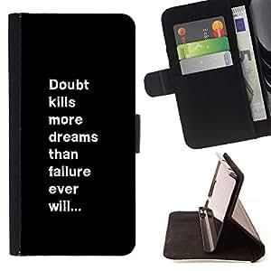Momo Phone Case / Flip Funda de Cuero Case Cover - Inspirer message texte - HTC One A9