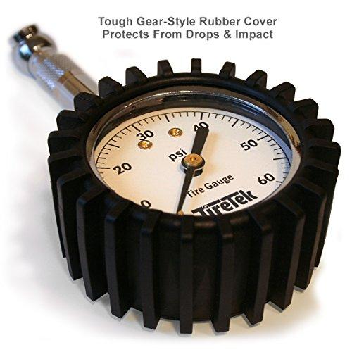 TireTek Premium Tire Pressure Gauge With Integrated Hold Valve - 60PSI by TireTek Precision Instruments (Image #6)