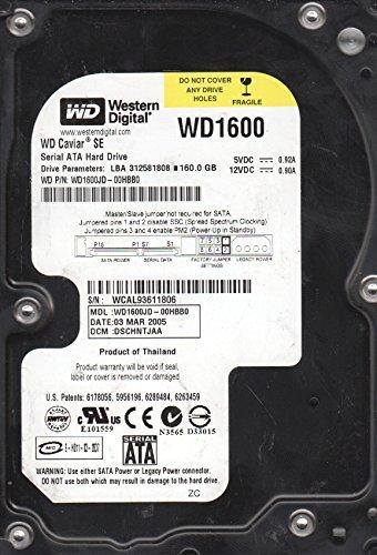 WD1600JD-00HBB0 Western Digital 160GB 7200RPM SATA 1.5 Gbps 3.5 inch Caviar Hard Drive (1.5 Gbps Hard Drive)