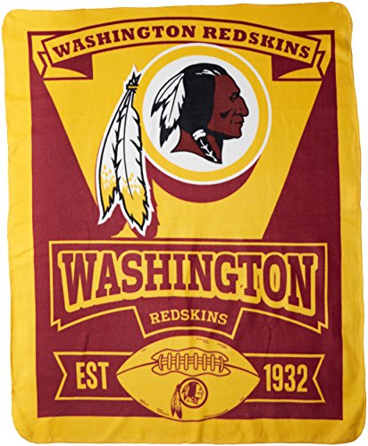 NFL Washington Redskins Marque Printed Fleece Throw, 50-inch by 60-inch