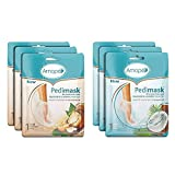 Amope PediMask Kit- 20 Minute Foot Mask to Rejuvenate and Soothe Your Feet with Blend of Moisturizers and Coconut and Macadamia Oils for Baby Smooth Feet in Minutes, 6 Packs