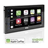 BOSS Audio Systems BVCP9685A Apple CarPlay Android Auto Car Multimedia Player - Double Din Car Stereo, 6.75 Inch LCD Touchscreen Monitor, Bluetooth, MP3 Player, USB Port, Aux Input, AM FM Car Radio