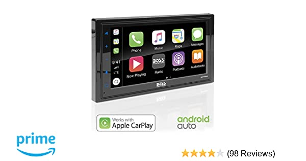 Boss Audio Systems BVCP9685A Apple CarPlay Android Auto Car Multimedia  Player - Double Din Car Stereo, 6 75 Inch LCD Touchscreen Monitor,  Bluetooth,