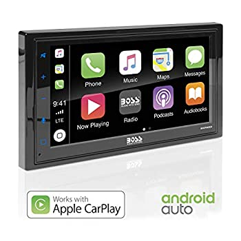 Image of BOSS Audio BVCP9685A Apple Carplay Android Auto Car Multimedia Player - Double Din Car Stereo, 6.75 Inch LCD Touchscreen Monitor, Bluetooth, MP3 Player, USB Port, A/V Input, Am/FM Car Radio Car Video