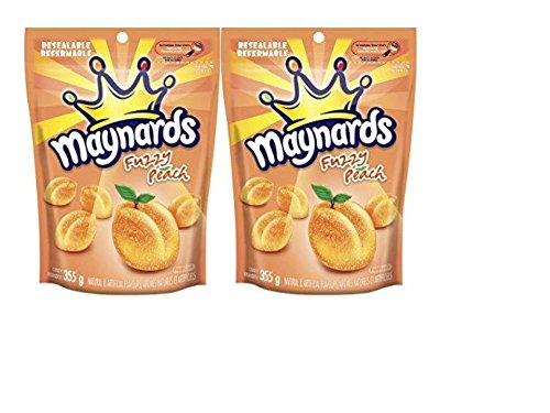 Fuzzy Peach - Maynards Fuzzy Peaches candy - 2 pack (2 x 355 grams bags)