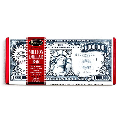 Barton's Dark Chocolate Peppermint Million Dollar Bar (3 Unit Per Order) - Perfect Christmas Gift for the Holidays (Chocolate For A Dollar)