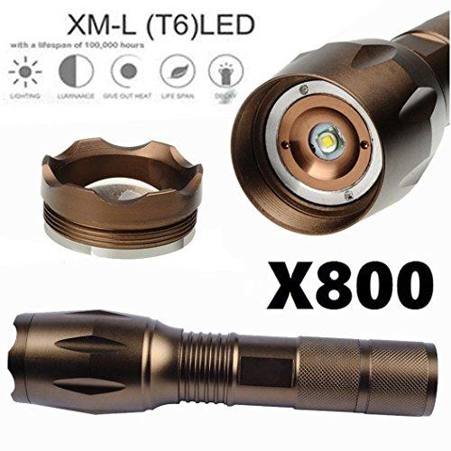 Compia 3000lúmenes linterna táctica 5modos linterna LED de enfoque ajustable lámpara antorcha portátil con...