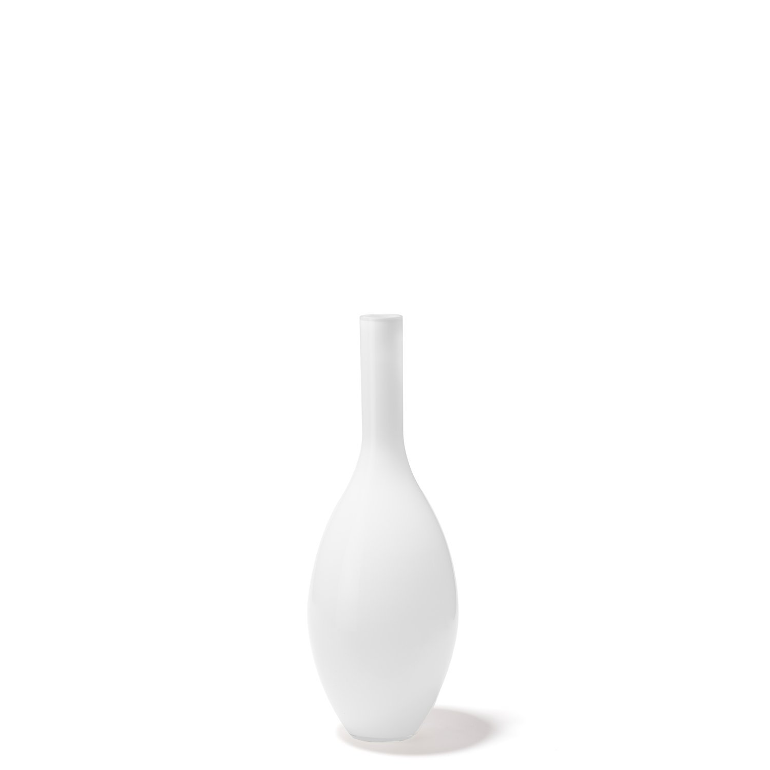 "LEONARDO Beauty 15"" Tall Glass Vase, White"