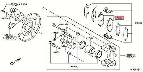 Infiniti D4060-1MB0A, Disc Brake Pad Infiniti Nissan