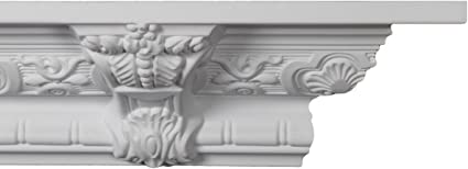Crown Moulding Manufactured with a Dense Architectural Polyurethane Compound Crown Molding CM-1001-8 Moldings.