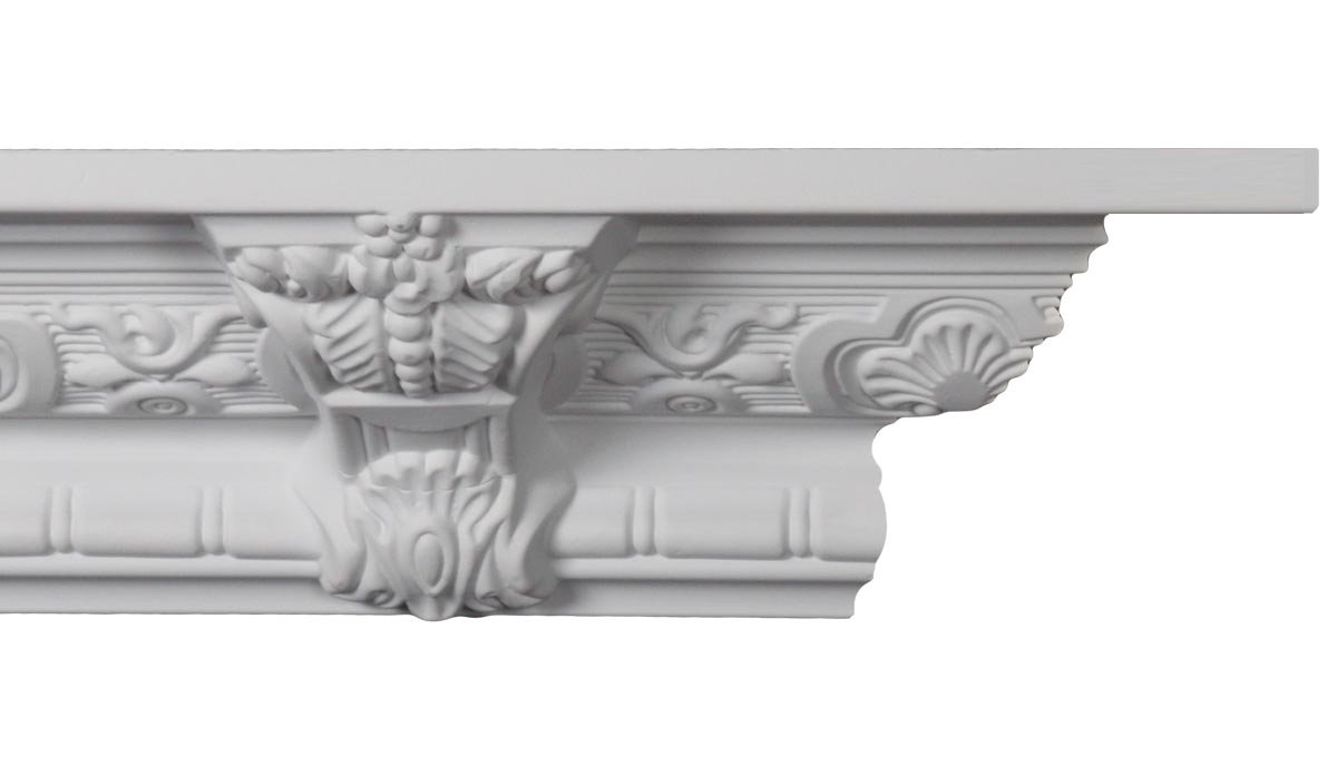 Crown Molding - Plastic Crown Moulding Manufactured with a Dense Architectural Polyurethane Compound. CM-1059 - 5 moldings