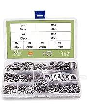 BULYZER 304 Stainless Steel Flat Washers Set Washers Hardware Assortment Kit (1010pcs)
