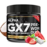 Alpha Gx7 Pre Workout Powder - Energy Drink for Workouts - 274g - 30 Servings Fruit Punch Flavor