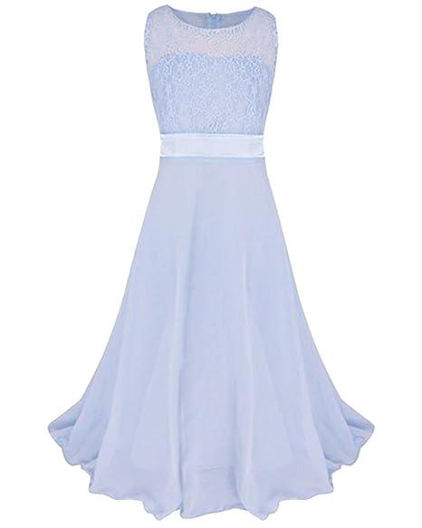 Vestido de Princesa de Niñas Vestidos Sin Mangas Vestidos Fiesta Largos de Noche Bodas y Ceremonia: Amazon.es: Ropa y accesorios