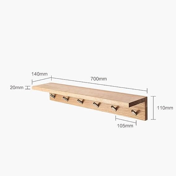Amazon.com: LBMy Hangers Solid Wood Coat Rack Hall Wall Coat ...