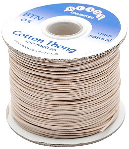 Beads Unlimited - Cordoncino di cotone da 1 mm, 100 pz BTN03-100