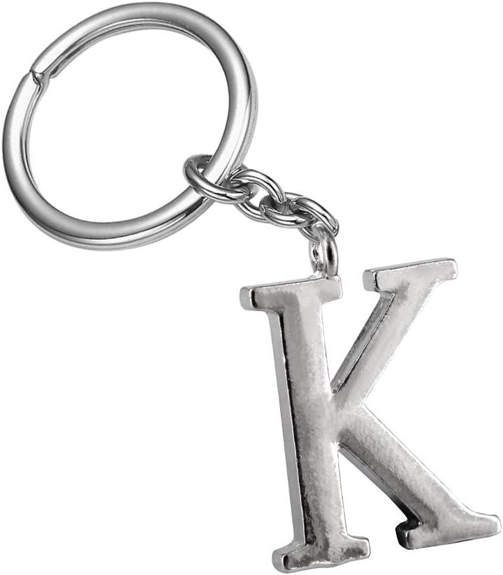 Z547_B New Arrival Adorable Alphabet Initial Letter K Keychain Key Ring