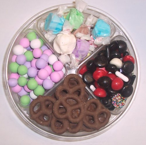 Scott's Cakes 4-Pack Chocolate Dutch Mints, Nougat Taffy, Licorice Mix, & Chocolate Pretzels by Scott's Cakes