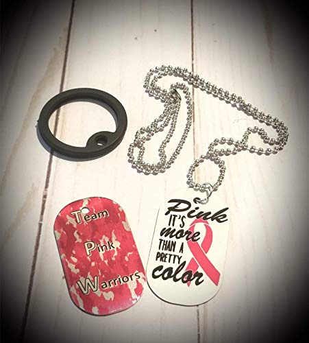 Breast Cancer Dog Tag/Warrior - Charity Awareness ()