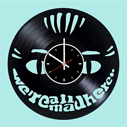 Cheshire Cat Design Vinyl Wall Clock Great Gift for Men, Women, Kids, Girls and Boys, Birthday, Christmas Beautiful Home Decor - Unique Design That Made Out of Vinyl LP -