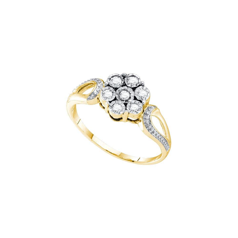 0.12CTW DIAMOND FLOWER RING