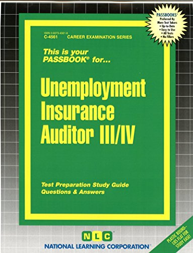 Download Unemployment Insurance Auditor III/IV (Passbooks) Pdf