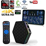 APTC T95Z Plus 32GB/3GB Android 7.1 Dual Wifi 5G Octa Core 1080p 4K 3D Amlogic S912 Bluetooth 4.1 Internet Streaming TV Media Set Top Box+Q9 Color Backlit Wireless Keyboard Remote Bundle