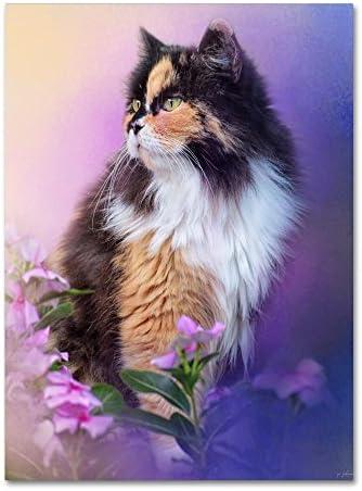 Calico Kitty In The Garden