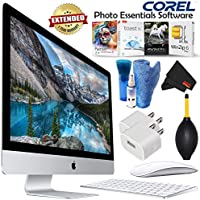 Apple iMac 27 Inch 5K Desktop Computer Certified Refurbished MK472LL/A Bundle with 1 Year Extended Warranty + Corel Mac Software + More