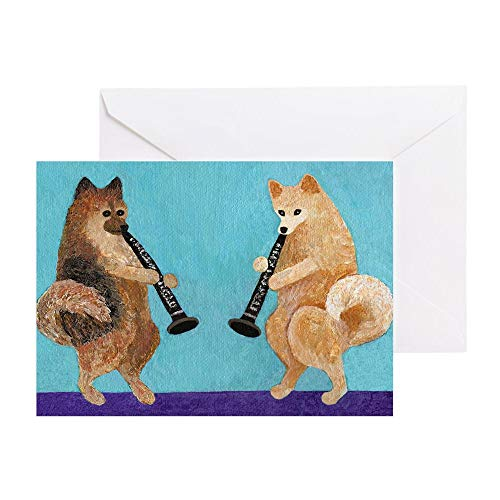 - CafePress Pomeranian Clarinet Duo Greeting Card, Note Card, Birthday Card, Blank Inside Matte