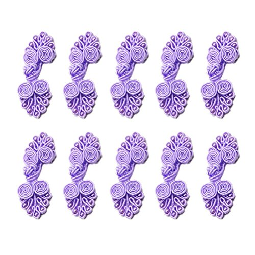 Chinese Knots Frog Buttons Closure Knot Cheongsam Handmade Sewing Fasteners,Light Purple