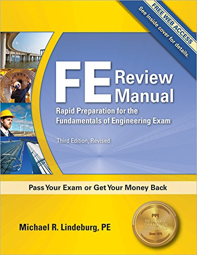 FE Review Manual: Rapid Preparation for the Fundamentals of Engineering Exam, 3rd Ed cover