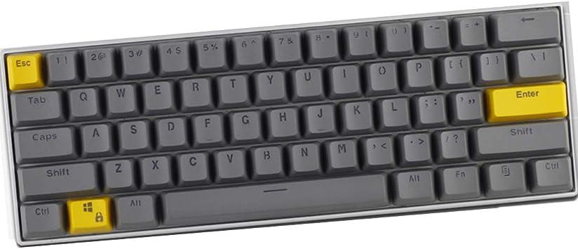 60% keycap Set, 61 Keys PTB retroiluminada tecla Clave (MX ...