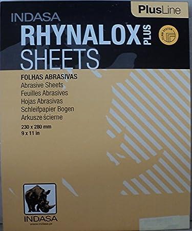 50 Sheets 9 X 11 Indasa Dry Sandpaper 80 Grit