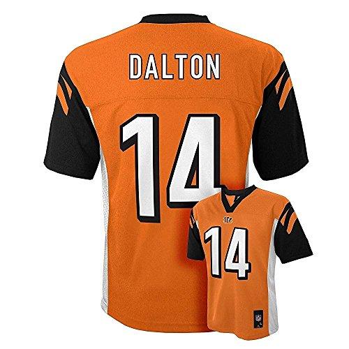 (Andy Dalton Cincinnati Bengals #14 Orange Youth Mid Tier Alternate Jersey (Large)